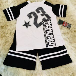 NWT Boys Matching Top and Shorts